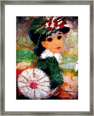 Pearl Framed Print by Theo Bethel