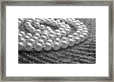 Pearls And Sand Framed Print
