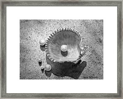 Pearls Framed Print by Irina Sztukowski