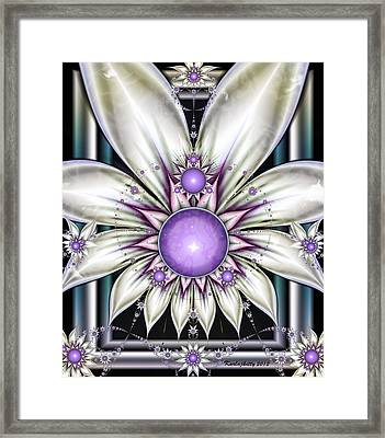 Pearly Framed Print
