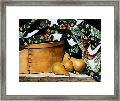 Pears And Stars Framed Print