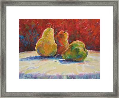 Pears Framed Print by Bonnie Goedecke