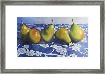 Pears Framed Print by Daydre Hamilton