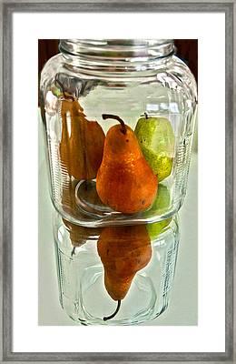 Pears In A Jar Framed Print