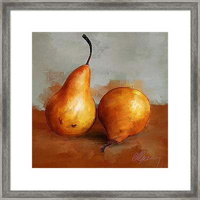 Pears Still Life Framed Print by Michael Greenaway