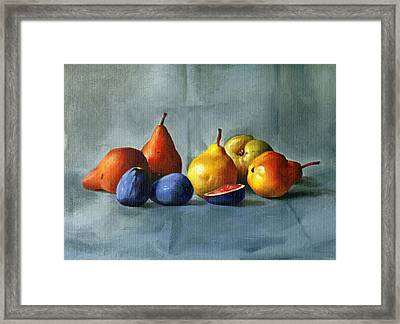 Pears Framed Print by Tatyana Holodnova