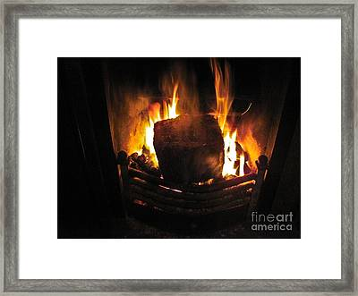 Peat Fire Framed Print by Black Sun Forge