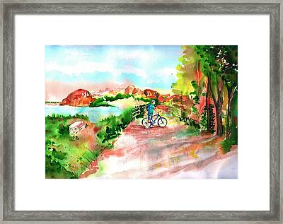 Peavine Trail Prescott Arizona Framed Print by Sharon Mick