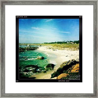Pebble Beach Framed Print by Nina Prommer