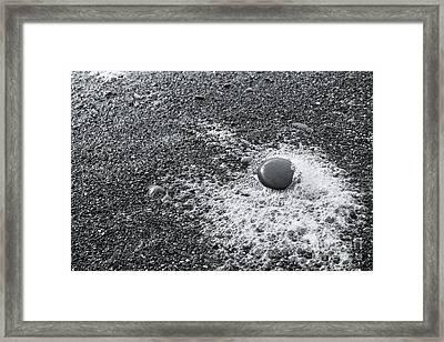 Pebble On Foam Framed Print