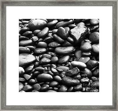 Pebbles Framed Print by Alexandra Jordankova