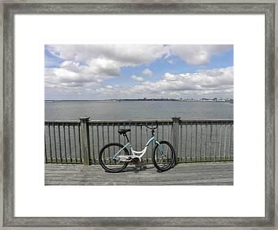 Pedal Pusher Framed Print by Diane Barrett