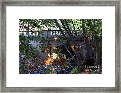 Pedestrian Bridge And Strawberry Creek  . 7d10132 Framed Print by Wingsdomain Art and Photography