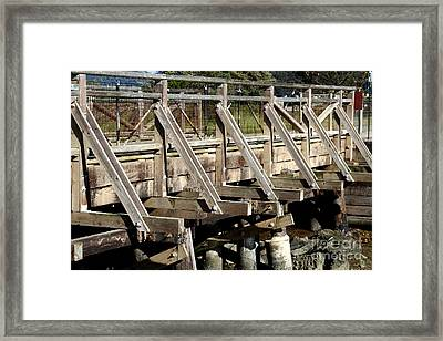 Pedestrian Bridge At Point Isabel In Richmond California . 7d15082 Framed Print by Wingsdomain Art and Photography