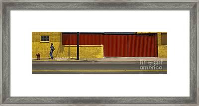 Pedestrian Framed Print by Jim Wright