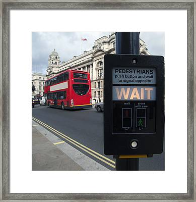 Pedestrian Traffic Controls On The Side Framed Print
