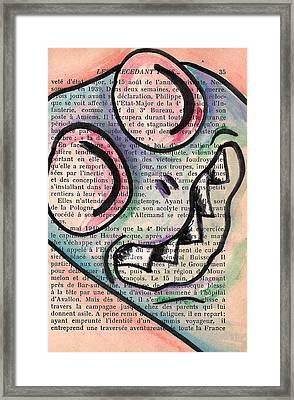 Peekaboo Monster Framed Print by Jera Sky