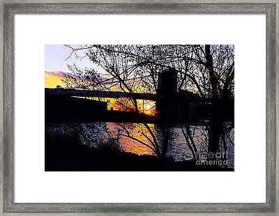 Peeking At The Bridge Framed Print by Kendall Eutemey