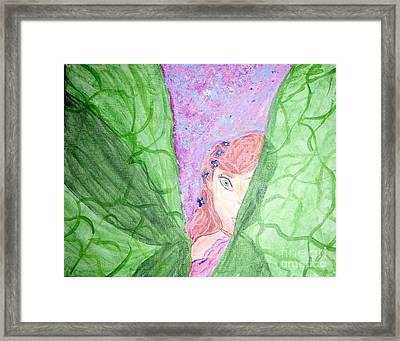 Peeking Fairy  Framed Print by Elizabeth Arthur