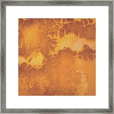 Peeling Ochre Wall Framed Print