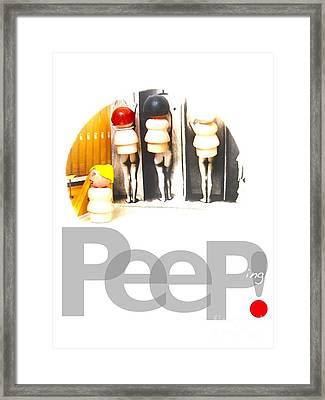 Peeping Framed Print by Ricky Sencion