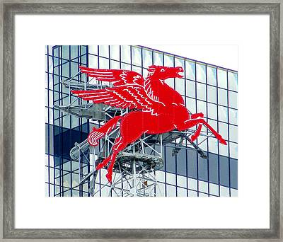 Pegasus Framed Print by Charlie and Norma Brock