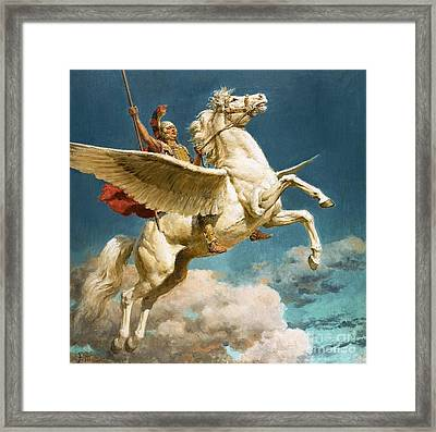 Pegasus The Winged Horse Framed Print by Fortunino Matania