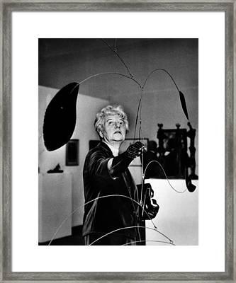Peggy Guggenheim Adjusts Alexander Framed Print