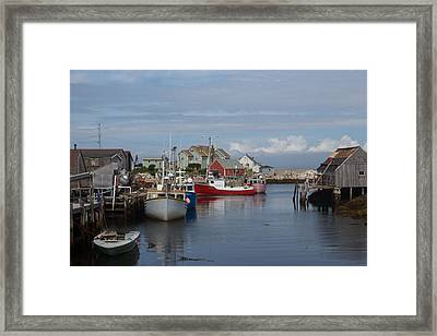 Peggy's Cove Framed Print by Nick Sayles
