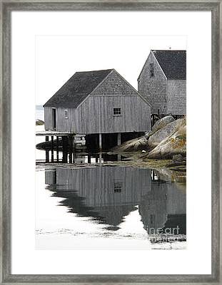 Peggy's Cove Sheds Framed Print by Louise Peardon
