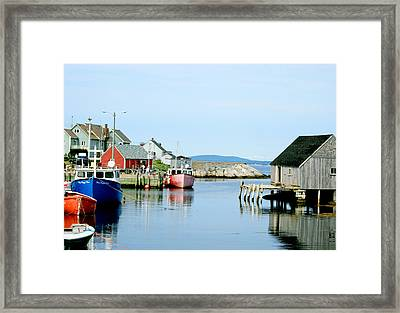Peggy's Cove Framed Print by Studio Maeva