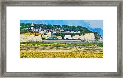Framed Print featuring the digital art Pegwell Bay by Steve Taylor