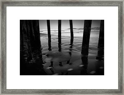 Peir Legs Framed Print by Matt  Trimble