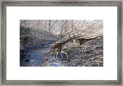 Pelecanimimus Dinosaurs Framed Print by Jose Antonio PeÑas