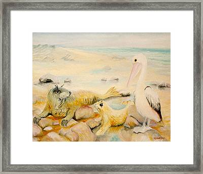 Pelican Muse Framed Print