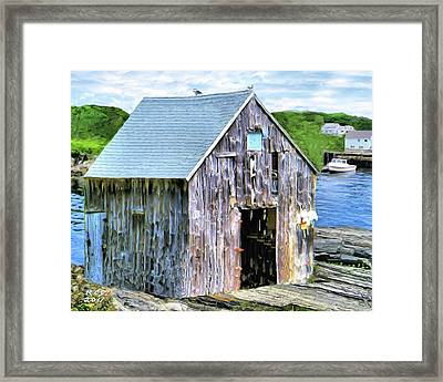 Pemaquid Fish House Framed Print by Richard Stevens