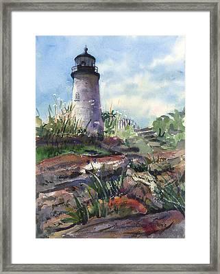 Pemaquid Lighthouse Framed Print by Cindy Spencer
