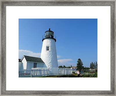 Framed Print featuring the photograph Pemaquid Lighthouse by Jeanne  Woods