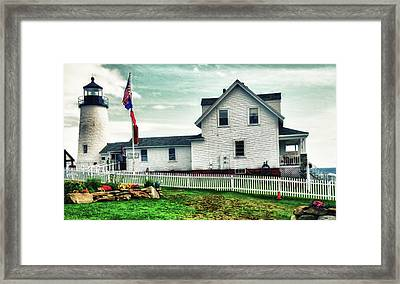 Framed Print featuring the photograph Pemaquid Lighthouse by Kelly Reber
