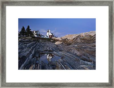 Pemaquid Point Lighthouse - D002139 Framed Print by Daniel Dempster