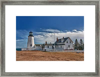 Pemaquid Point Lighthouse 4800 Framed Print by Guy Whiteley