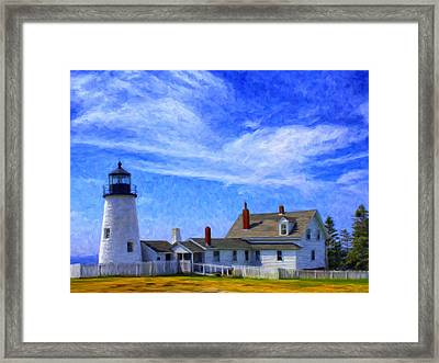 Pemaquid Point Lighthouse Framed Print by Dominic Piperata