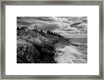 Pemaquid Point Lighthouse Framed Print by Keith Kapple