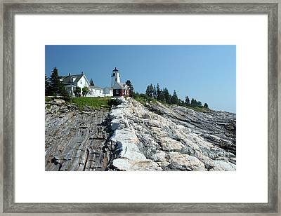 Pemaquid Point Lighthouse Framed Print by Ted Kinsman
