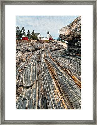Pemaquid Point Lt. Framed Print by Fred LeBlanc