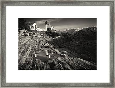 Pemaquid Point Reflection Framed Print by George Oze