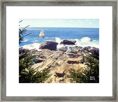 Pemaquid Point Framed Print by Richard Stevens