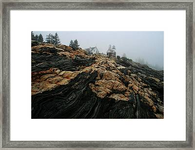 Framed Print featuring the photograph Pemquid Light 1 by Mary Hershberger