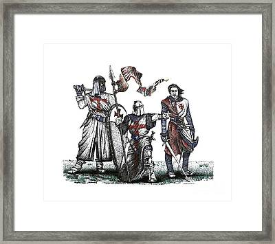 Pen And Ink Drawing Of Templaries  Framed Print by Mario Perez