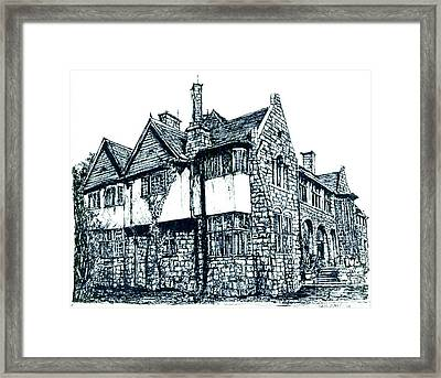 Pen And Ink Stone House  Framed Print by Adendorff Design